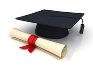 mortarboard scroll