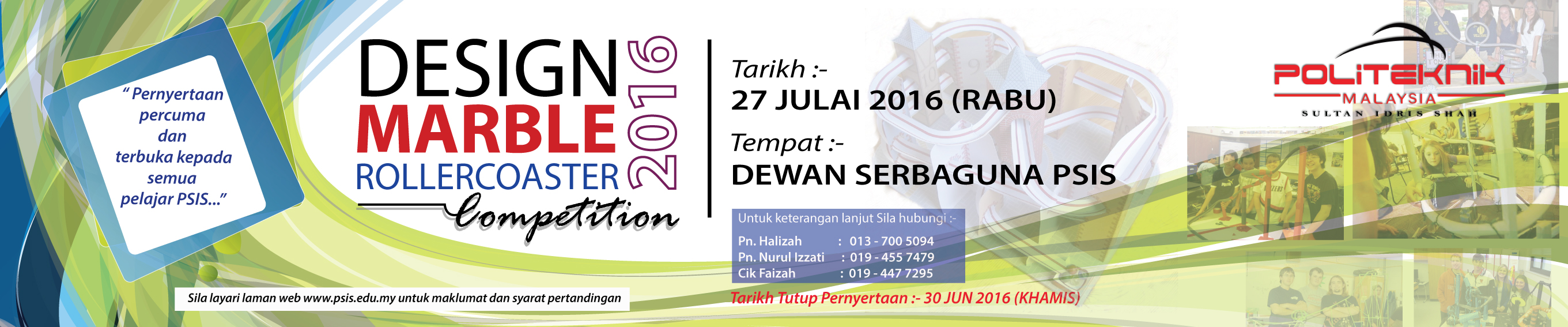 PSIS Design Marble Roller Coaster Competition 2016