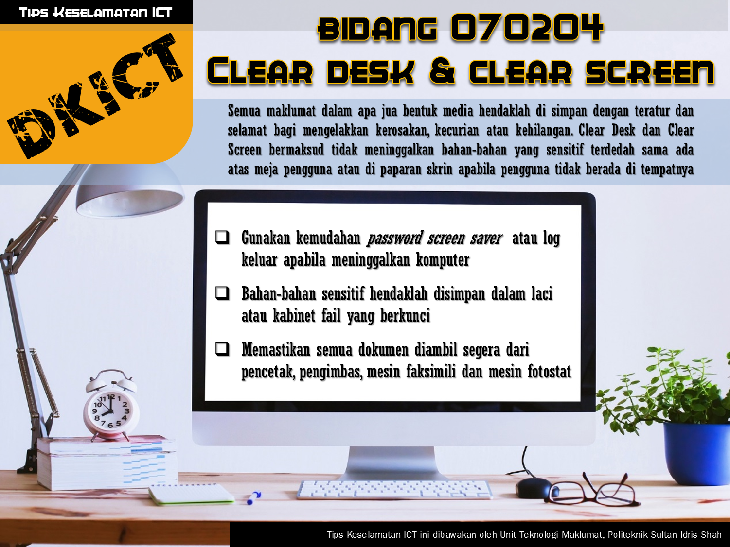 DKICT Clear Desk Clear Screen